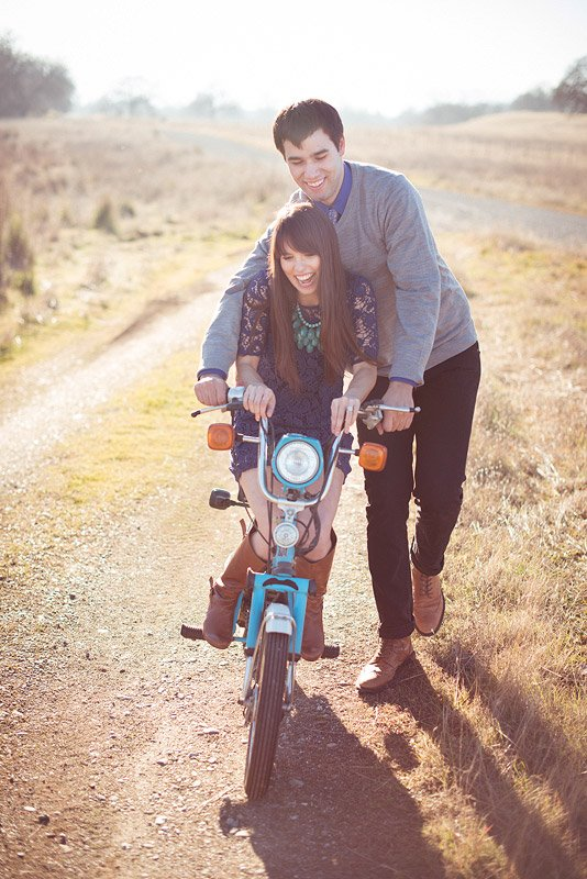 California Engagement Session with Moped 3