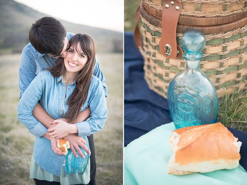 California Picnic Engagement Session