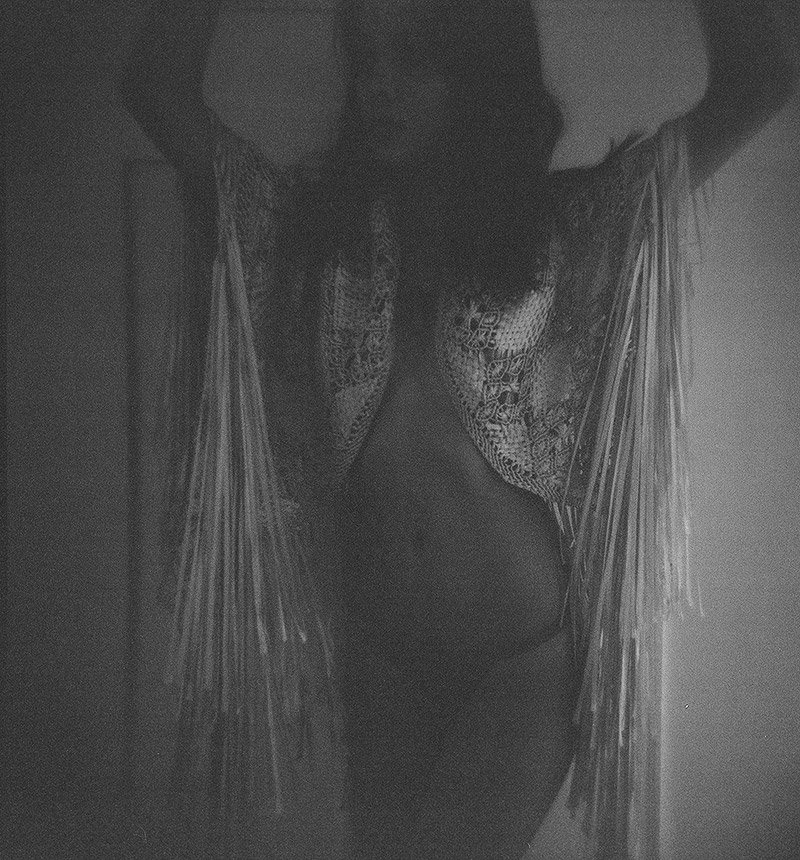 BoHo inspired Boudoir photography using film only.