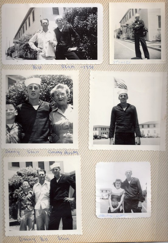 A collage of my grandfather Stan Parsley when he was 17 years old.