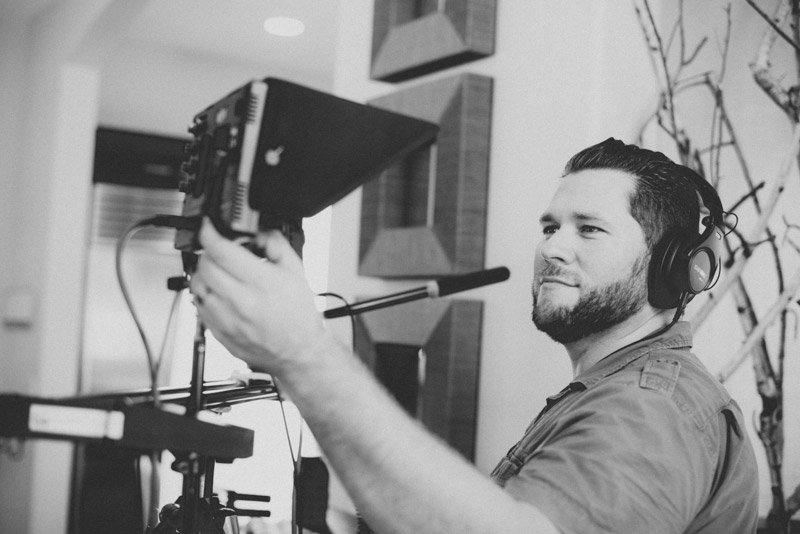 Camera man Milan Rosan hard at work on set for build.com