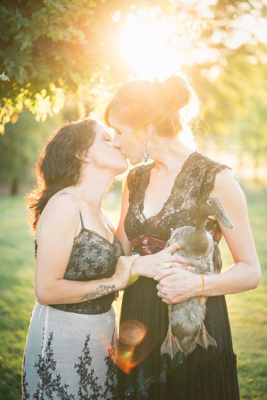 Lesbian engagement session