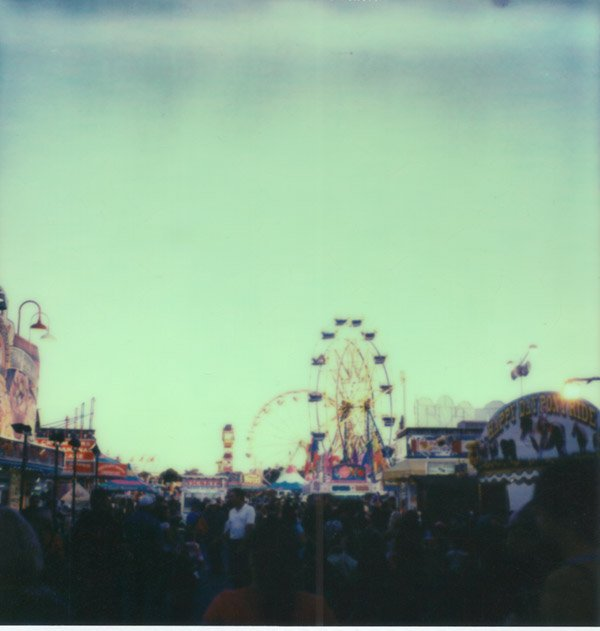 SX-70 Polaroid of the Silver Dollar Fair Chico