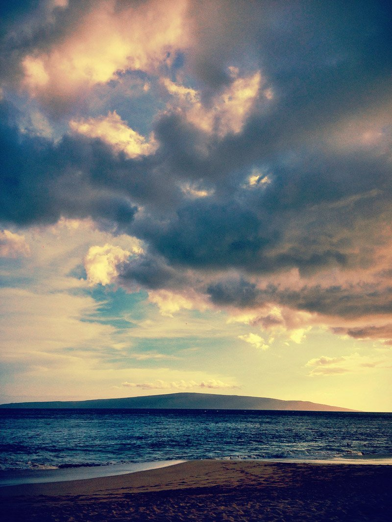 Kaho'olawe island as seen from Makena beach Maui