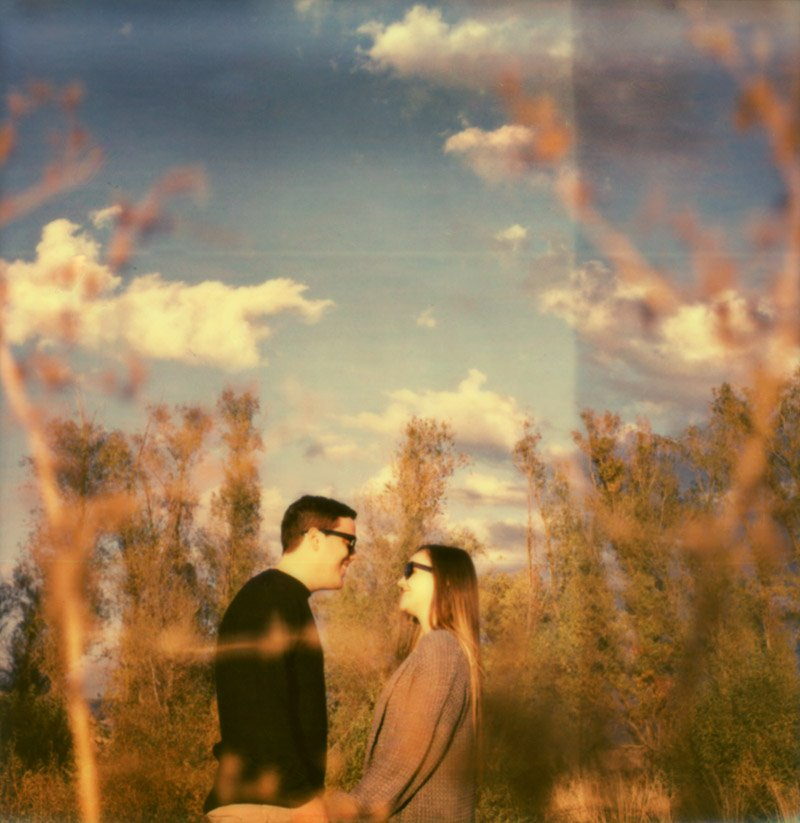 impossible project polaroid of young couple