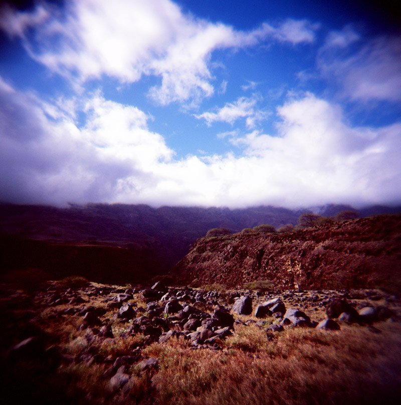 road to hana maui on holga