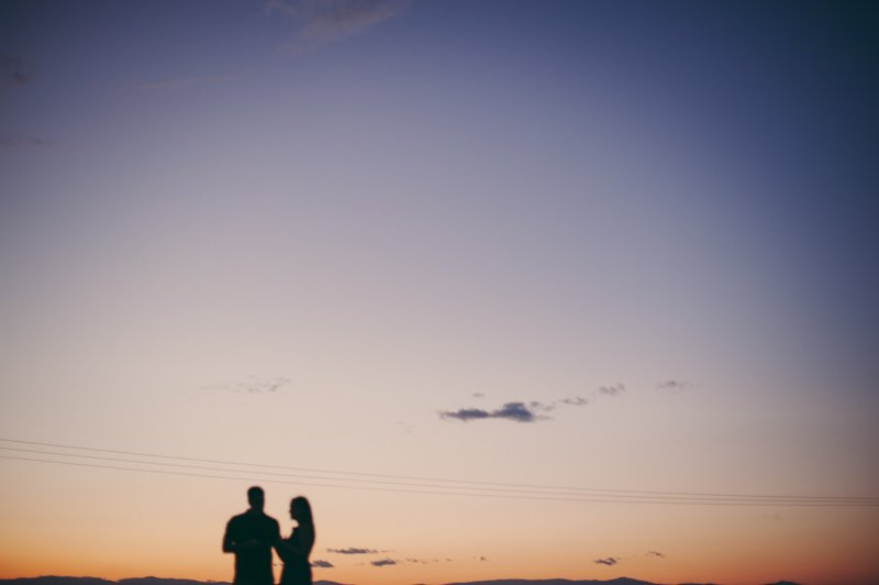 surprise marriage proposal at sunset
