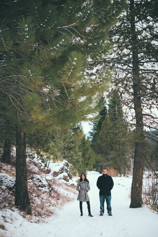 Romantic Winter Engagement Session