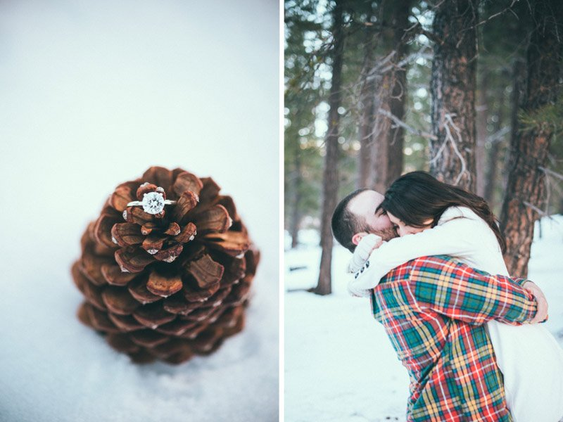 Sweet Winter Engagement Session in Truckee Ca