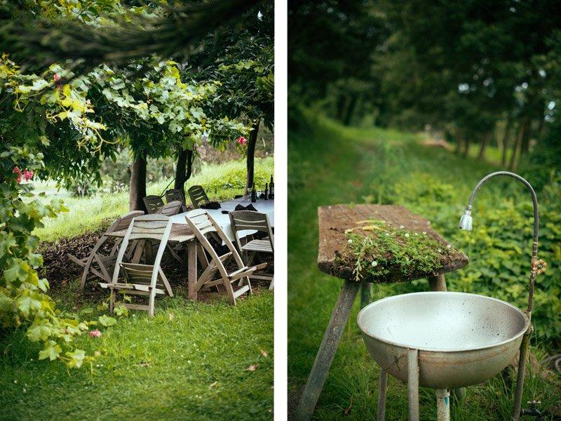 rustic table at o'o farm
