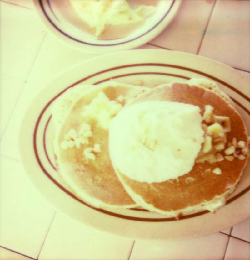 Mac nut pancakes polaroid