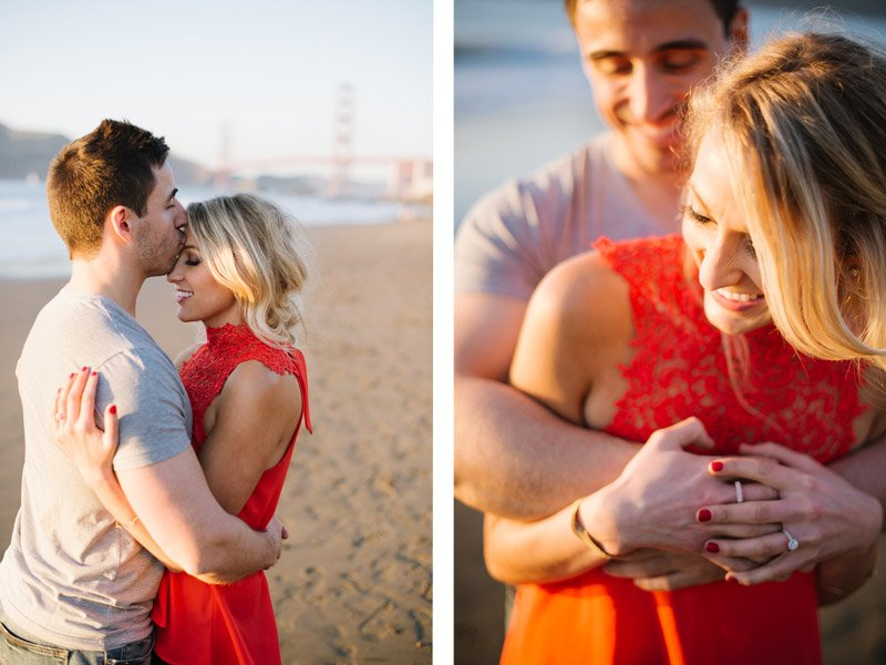 Baker Beach Engagement Photos by Shannon Rosan