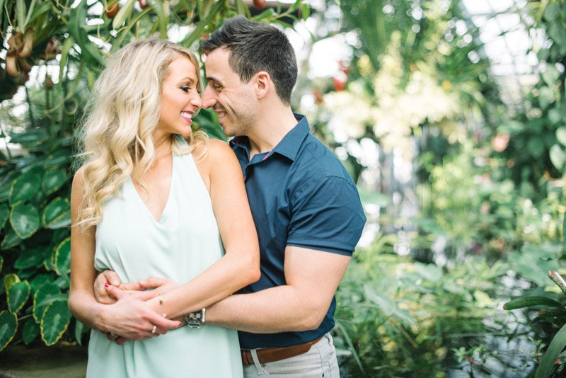 Conservatory of Flowers Engagement Photos by Shannon Rosan