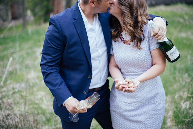 Champagne Engagement Session by Shannon Rosan - rosanweddings.com