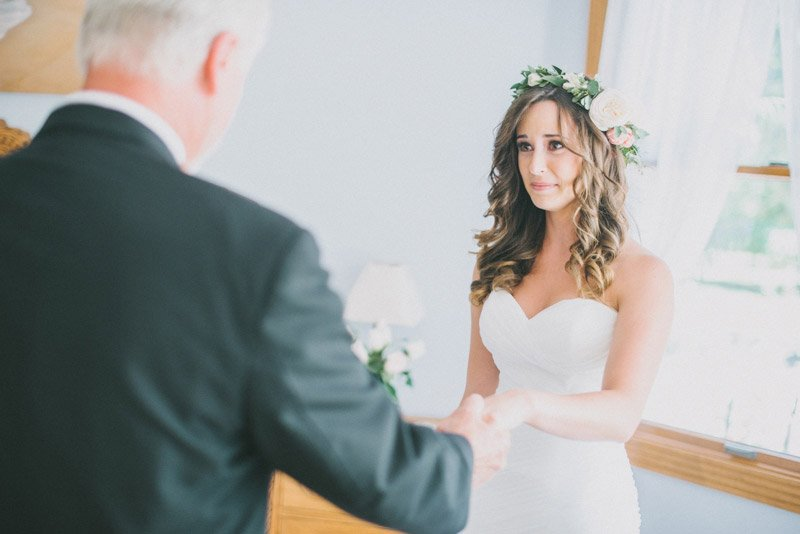 Dad First Look - Shannon Rosan Wedding Photography