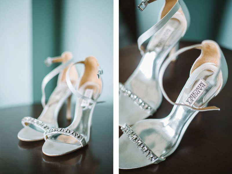 Badgley Mischka wedding shoes - Shannon Rosan Photography - rosanweddings.com