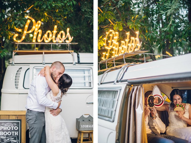 VW photo booth bus - Shannon Rosan Photography - rosanweddings.com