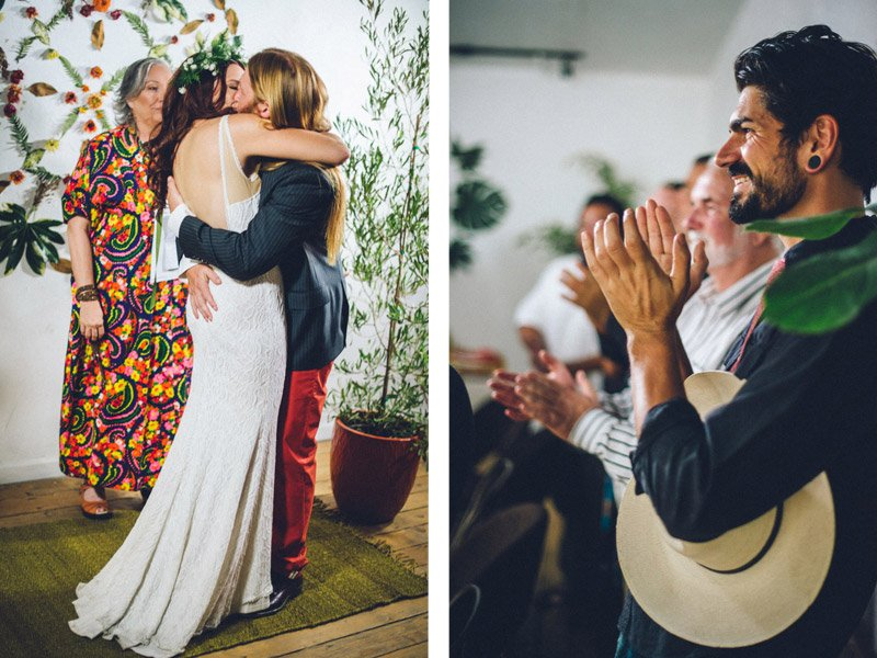 70s Inspired Wedding | Shannon Rosan Photography, rosanweddings.com #70s #wedding