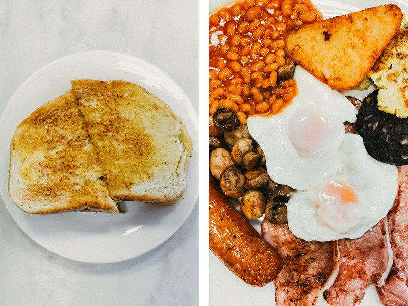 Full English Breakfast at Bar Bruno, London