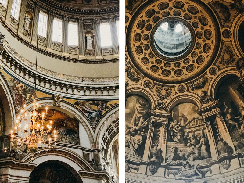 Inside of St Paul's Cathedral, London