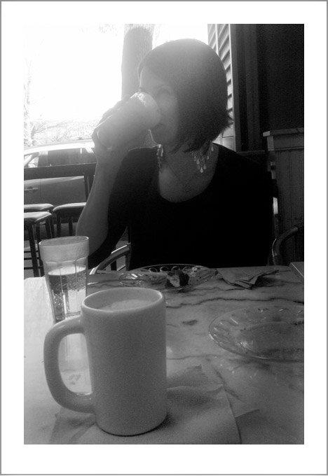 Drinking a Mocha