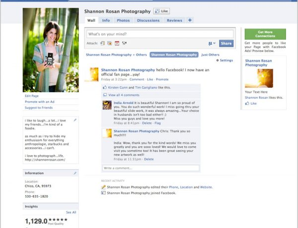 Shannon Rosan Photography Facebook Fan Page