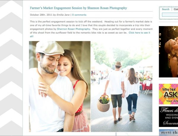 Farmer's Market Engagement Session by Shannon Rosan Photography Style Me Pretty