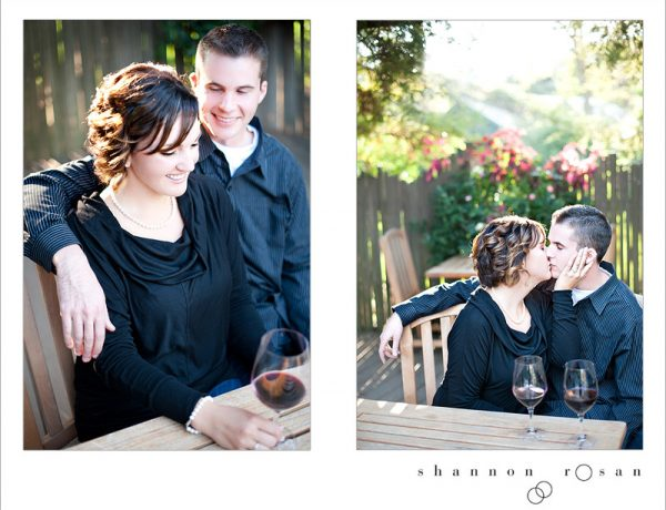 wine and roses engagement lodi