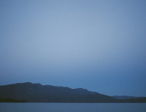 Lake Almanor, Ca at night photographed on Fuji film