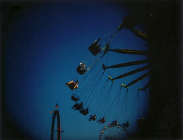 Swings at the silver dollar fair chico on holgaroid
