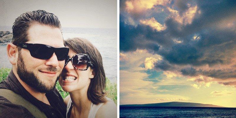 Shannon Rosan and Milan Rosan in Maui