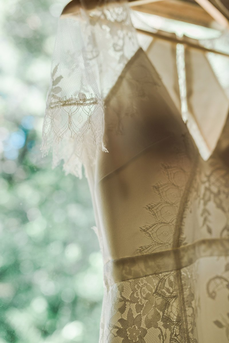 OVY Camp Wedding | Lace wedding dress
