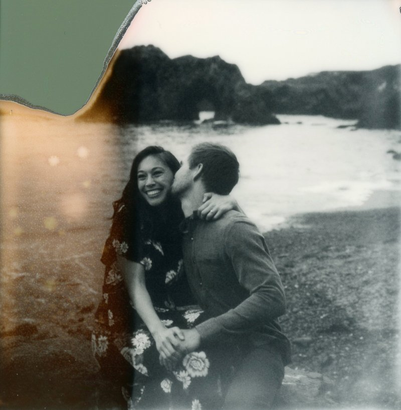 Mendocino Engagement Photo | Polaroid Wedding Photographer | Shannon Rosan