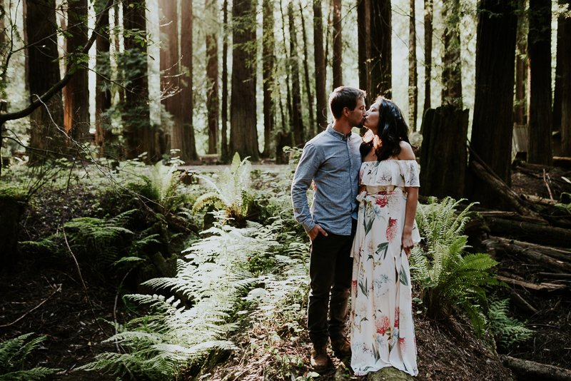 Redwood Engagement photos in Mendocino