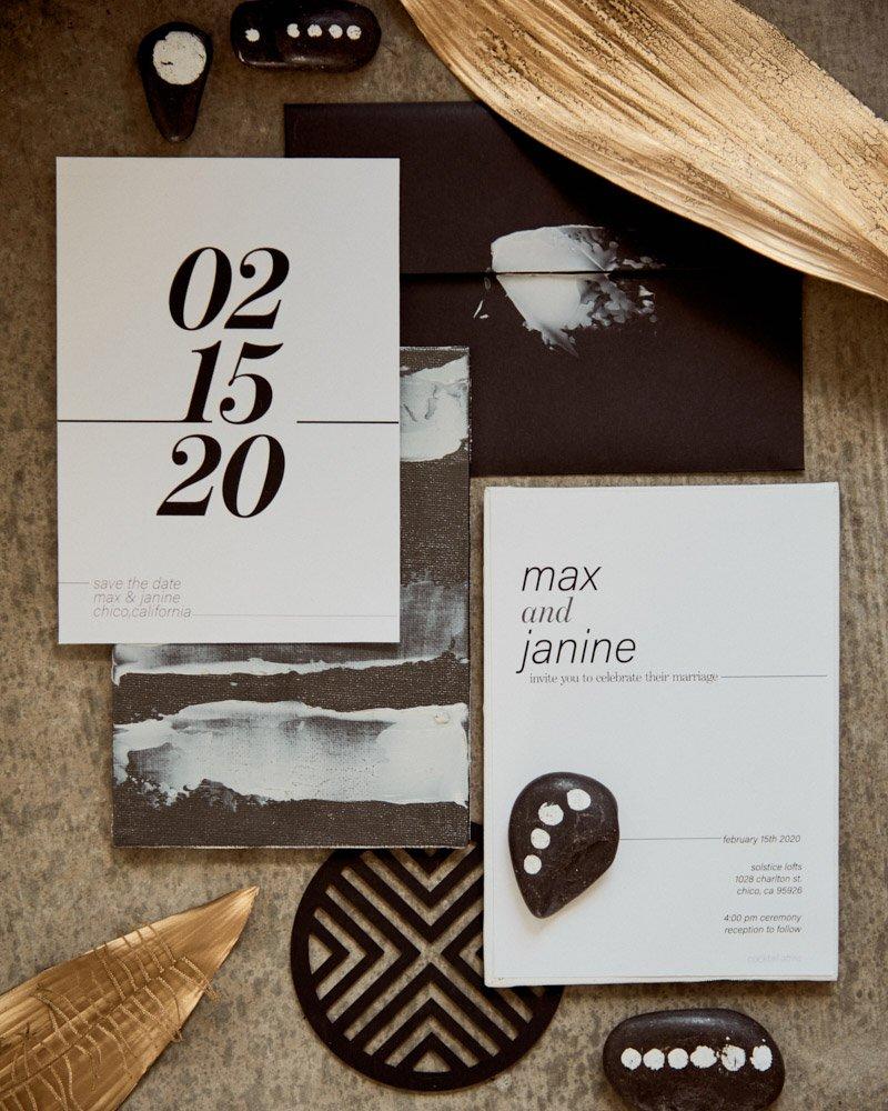 modern minimal wedding invitation suite