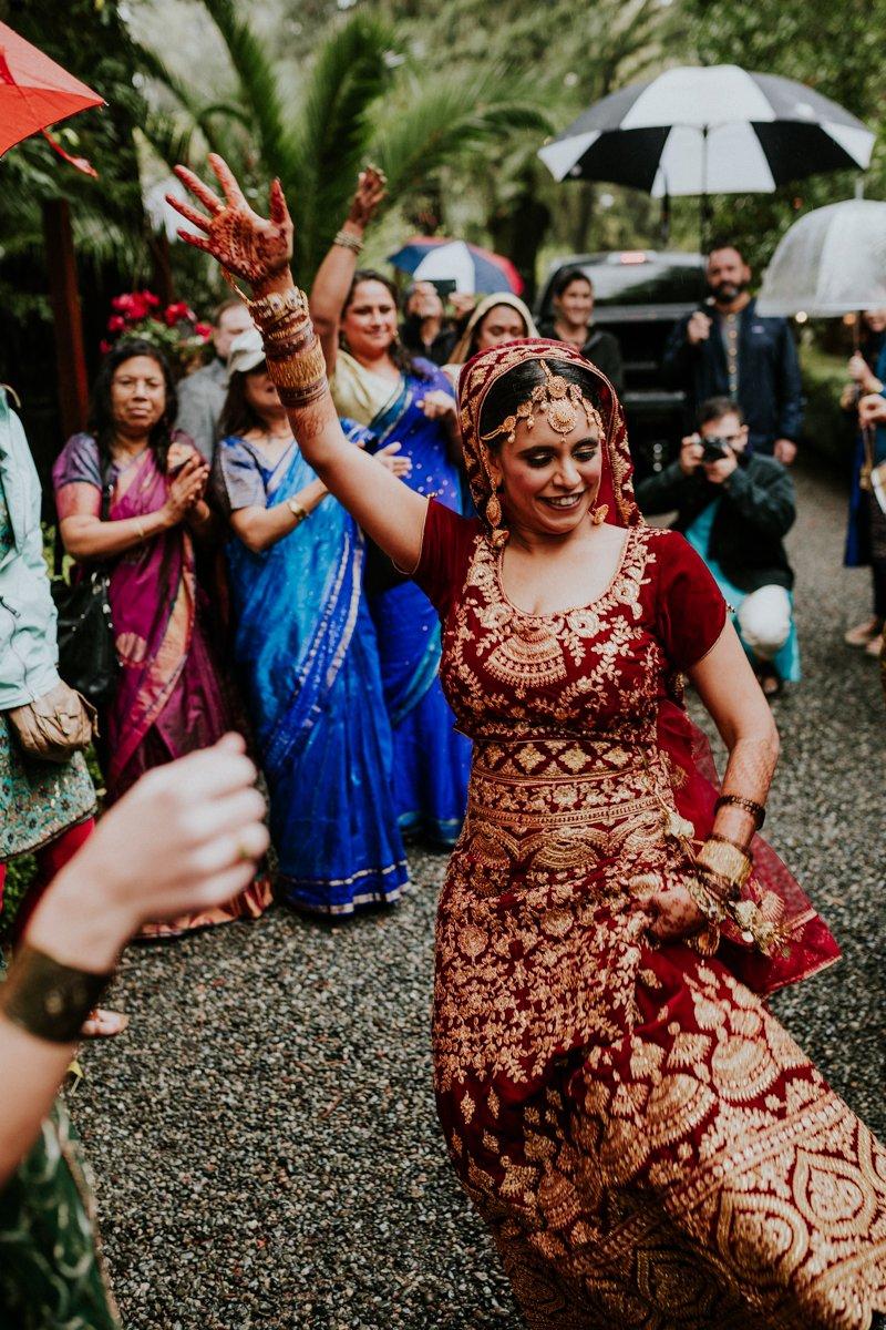 Deer Park Villa Wedding, Baraat with the Bride, Indian Wedding